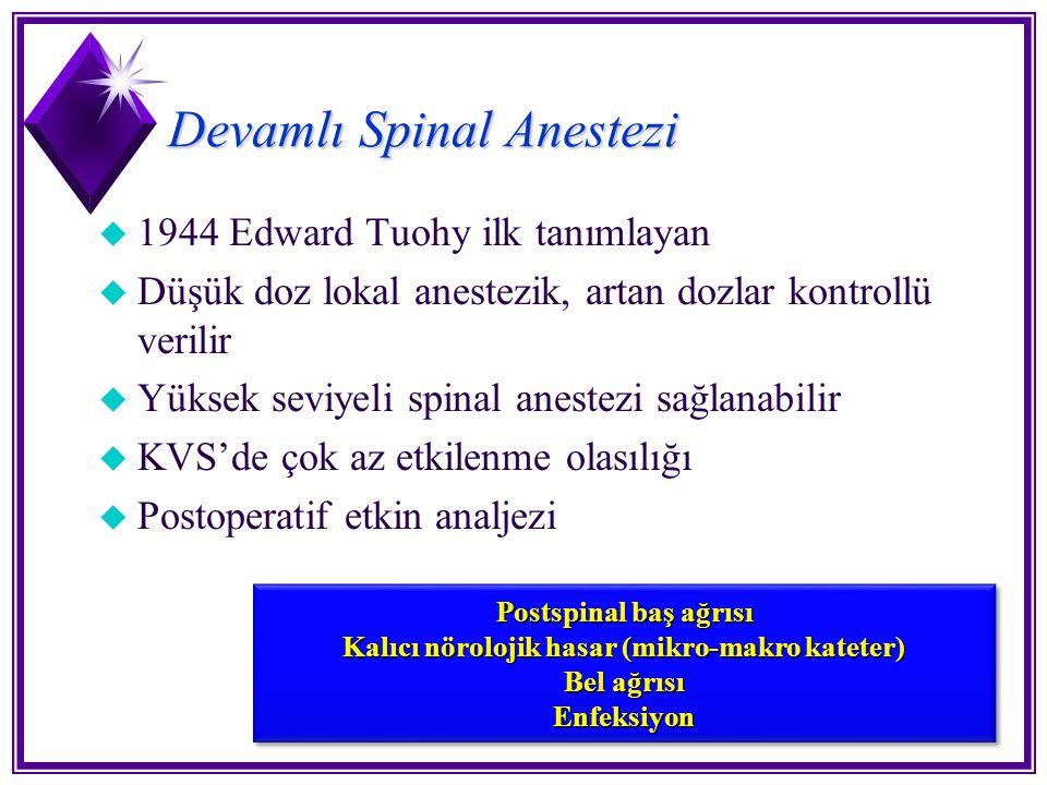 Devamlı Spinal Anestezi