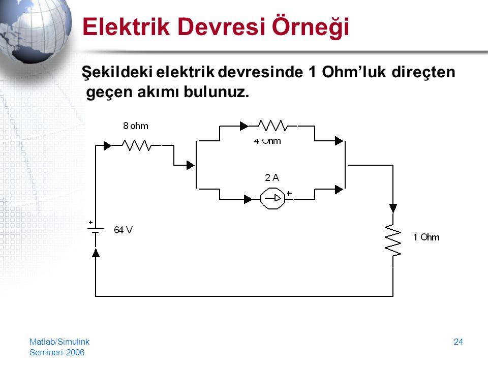 Elektrik Devresi Örneği
