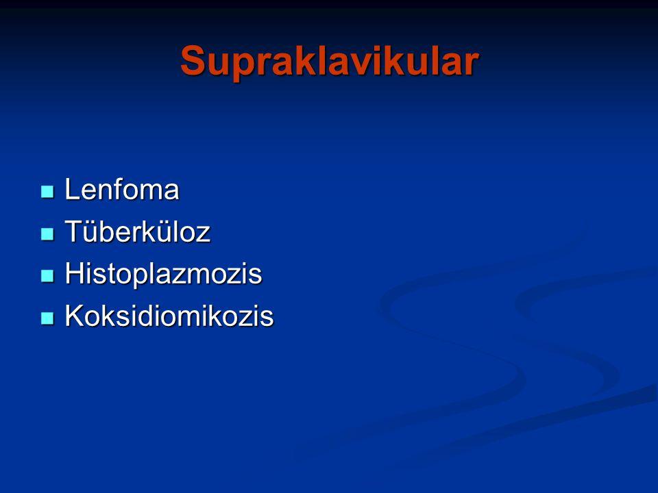 Supraklavikular Lenfoma Tüberküloz Histoplazmozis Koksidiomikozis