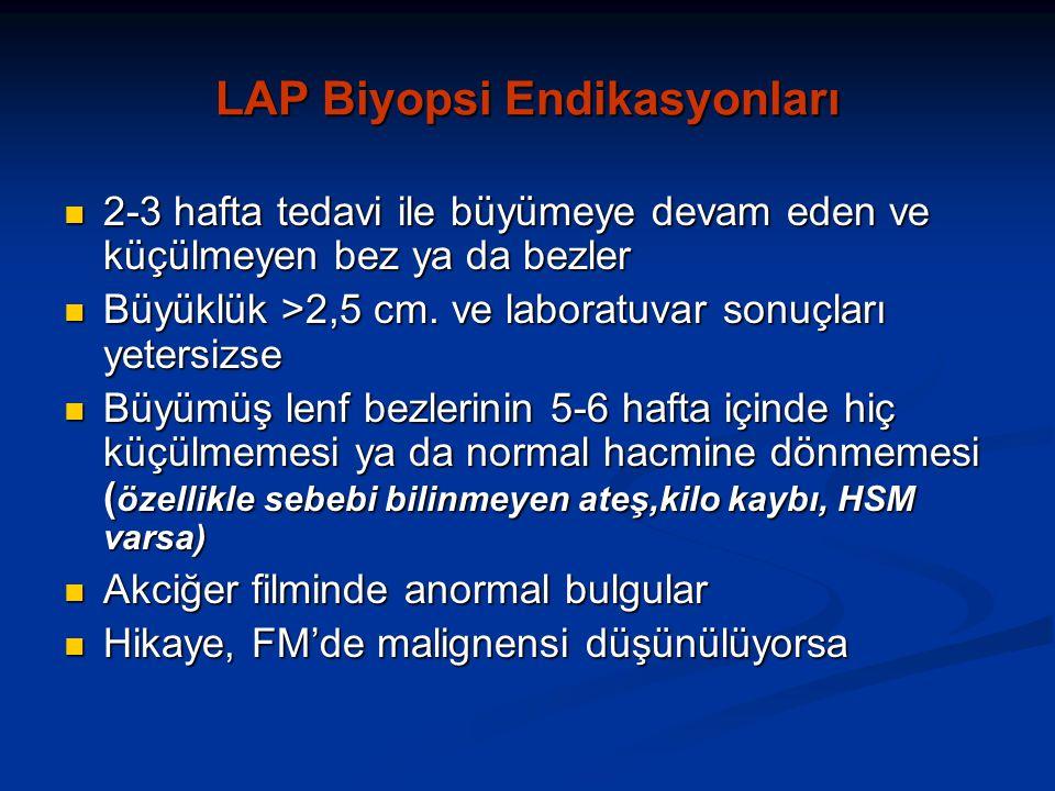 LAP Biyopsi Endikasyonları