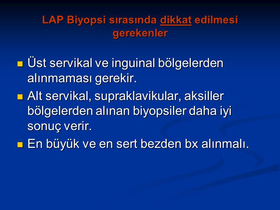 LAP Biyopsi sırasında dikkat edilmesi gerekenler