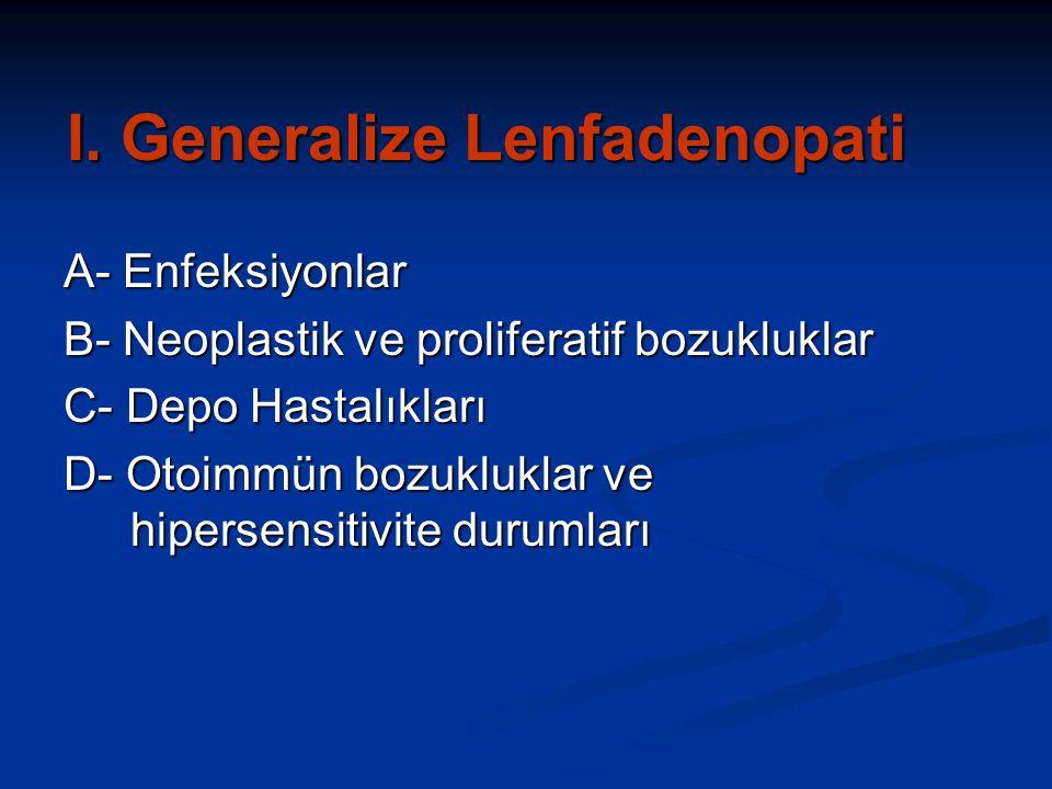 I. Generalize Lenfadenopati