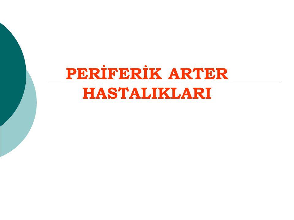 PERİFERİK ARTER HASTALIKLARI