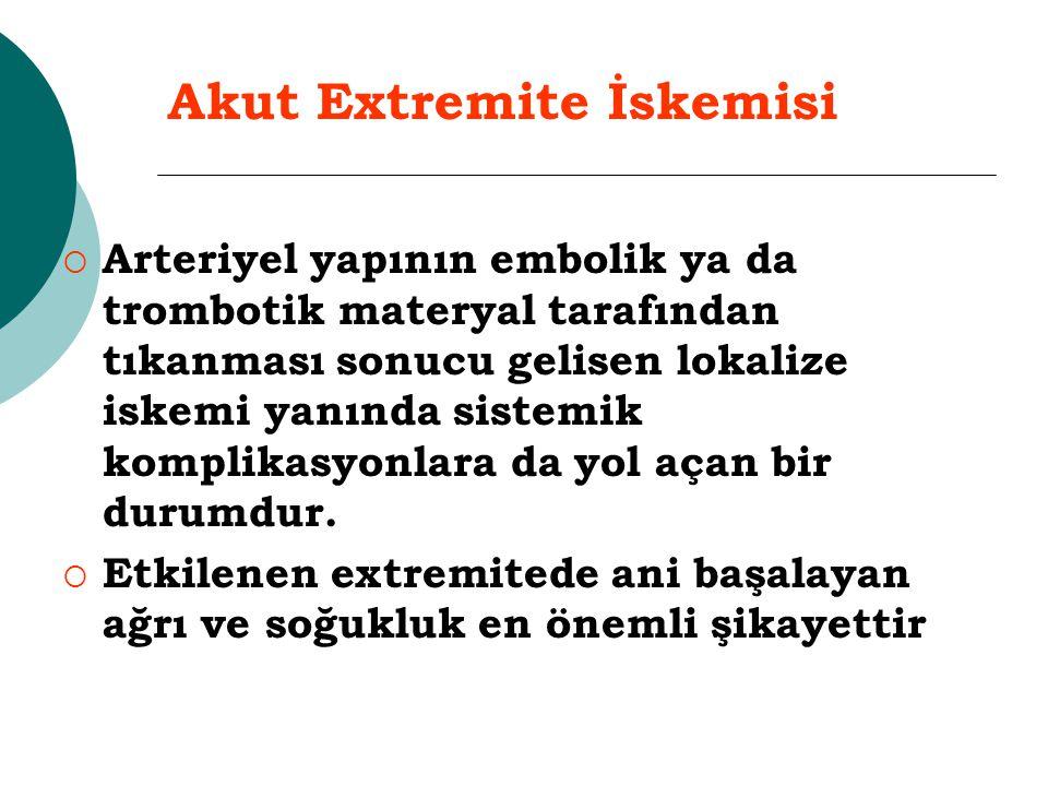 Akut Extremite İskemisi