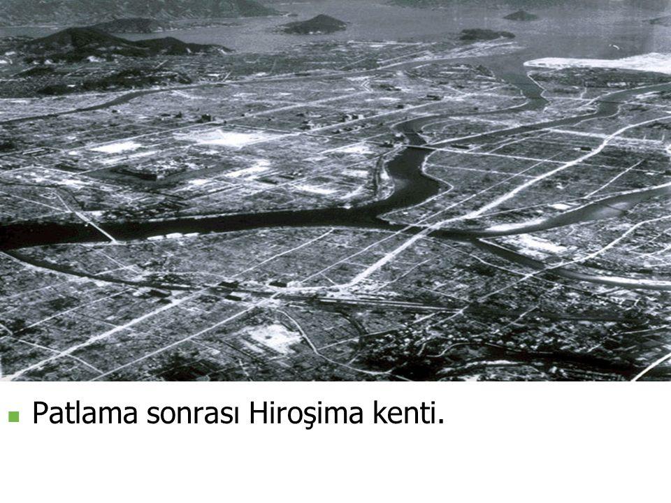 Patlama sonrası Hiroşima kenti.