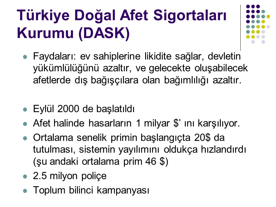 Türkiye Doğal Afet Sigortaları Kurumu (DASK)