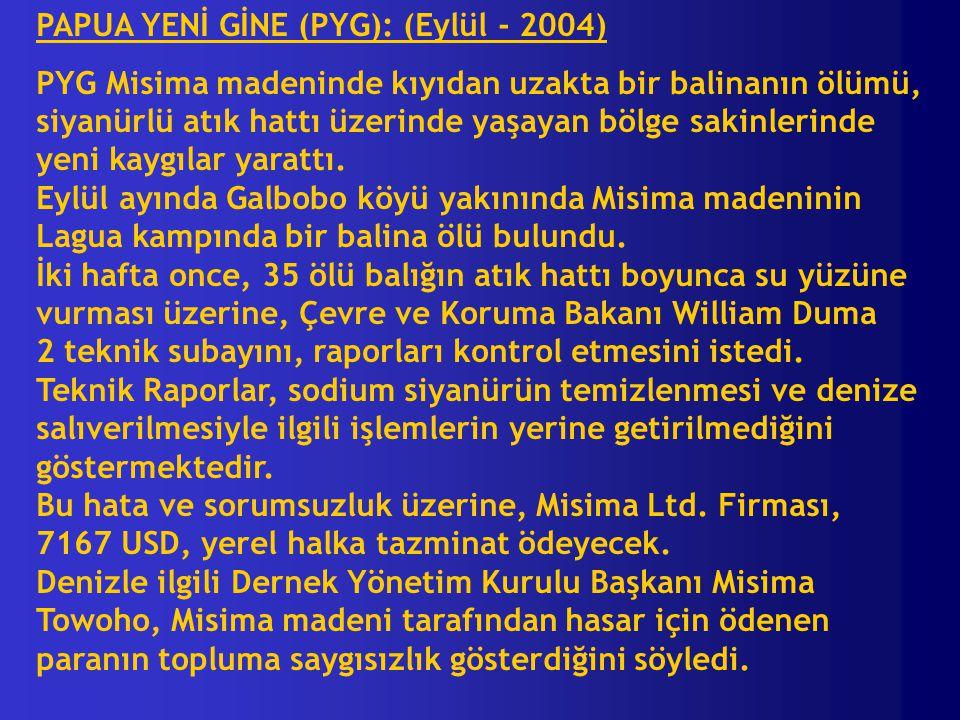 PAPUA YENİ GİNE (PYG): (Eylül - 2004)
