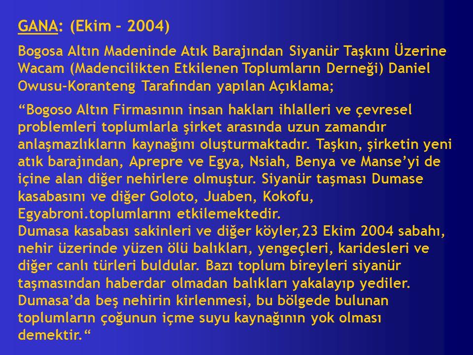 GANA: (Ekim – 2004)