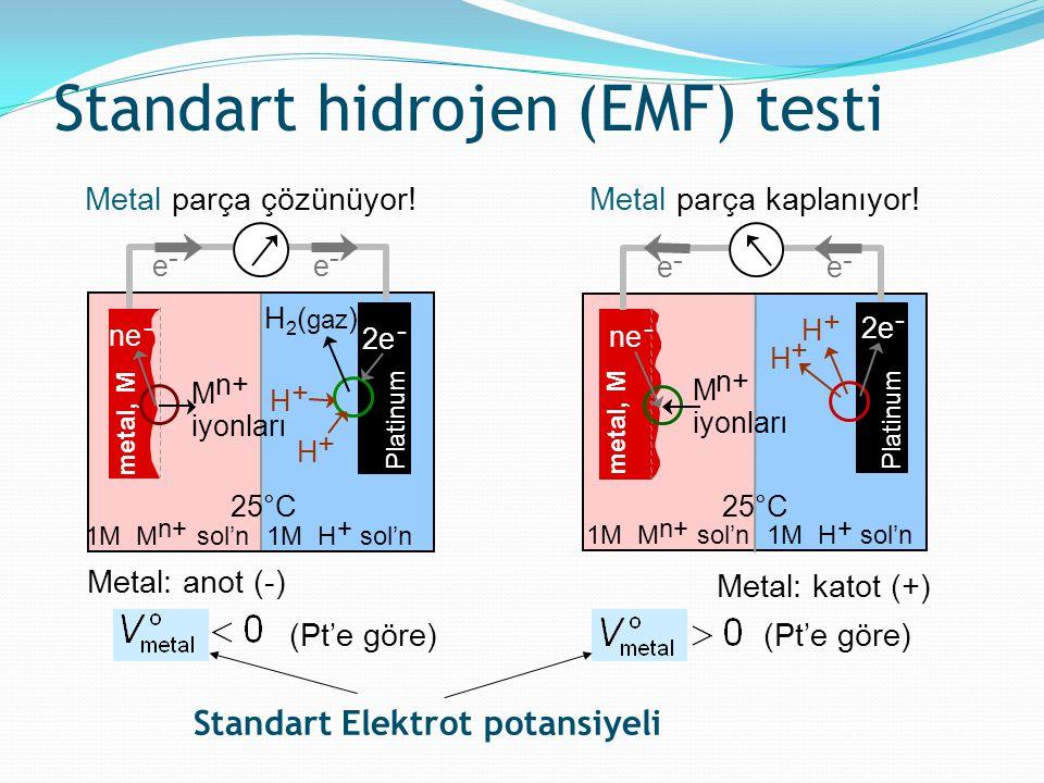 Standart hidrojen (EMF) testi