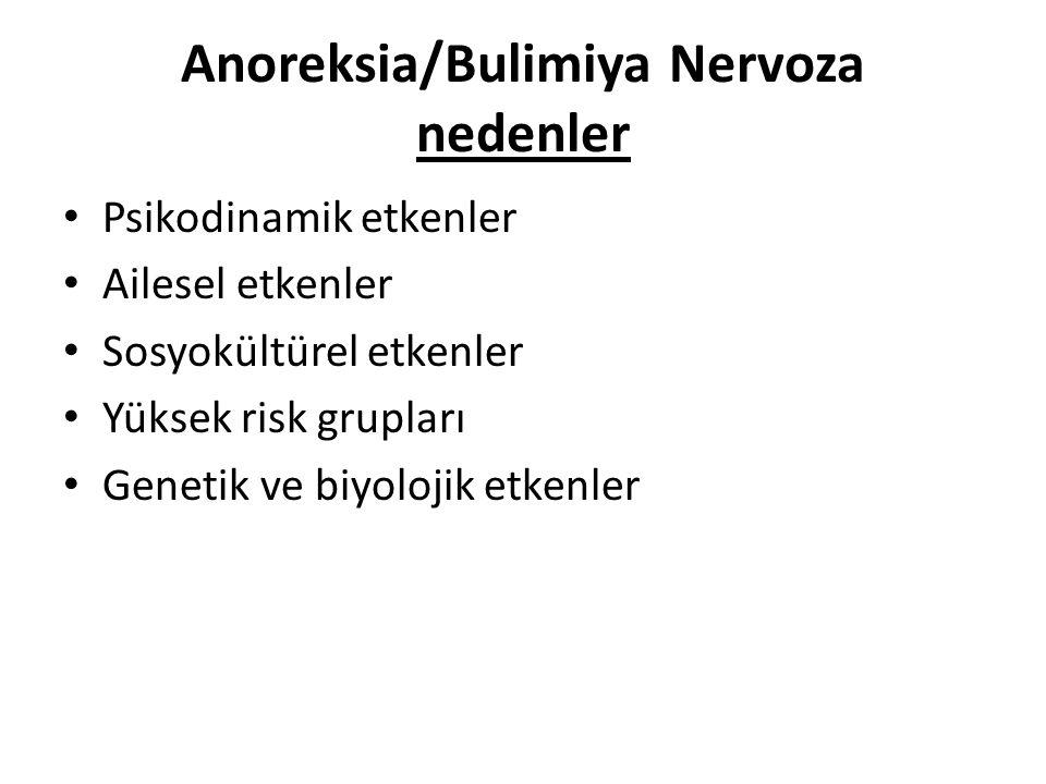 Anoreksia/Bulimiya Nervoza nedenler