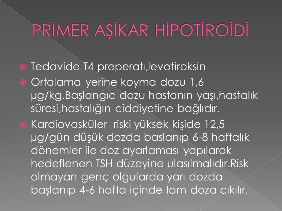 PRİMER AŞİKAR HİPOTİROİDİ