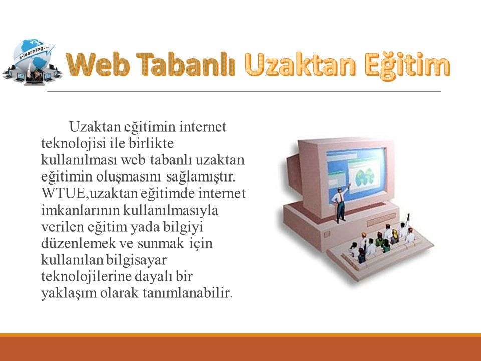 Web Tabanlı Uzaktan Eğitim