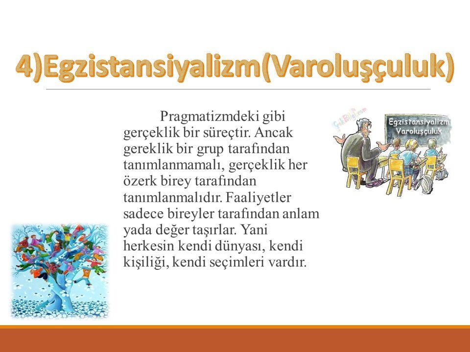 4)Egzistansiyalizm(Varoluşçuluk)