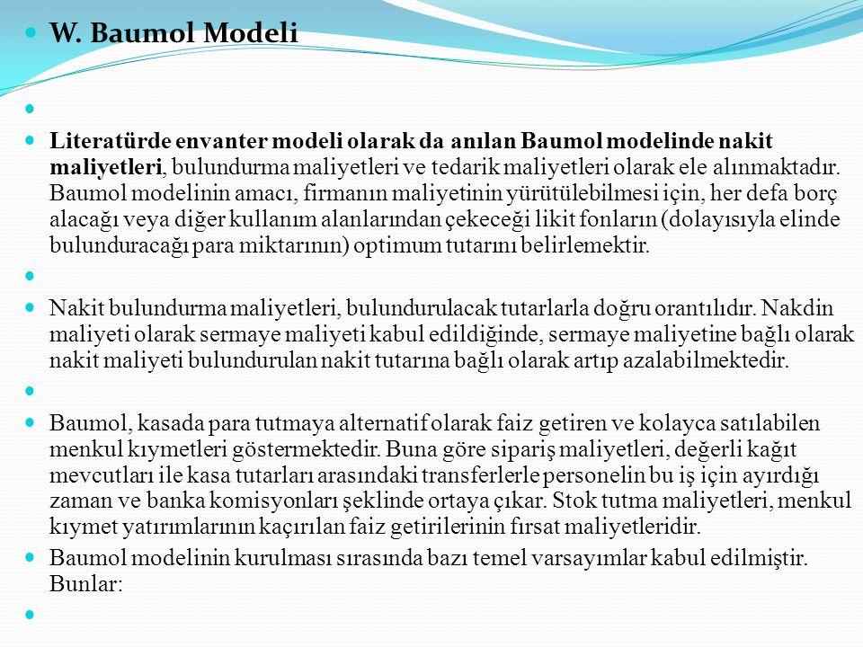 W. Baumol Modeli