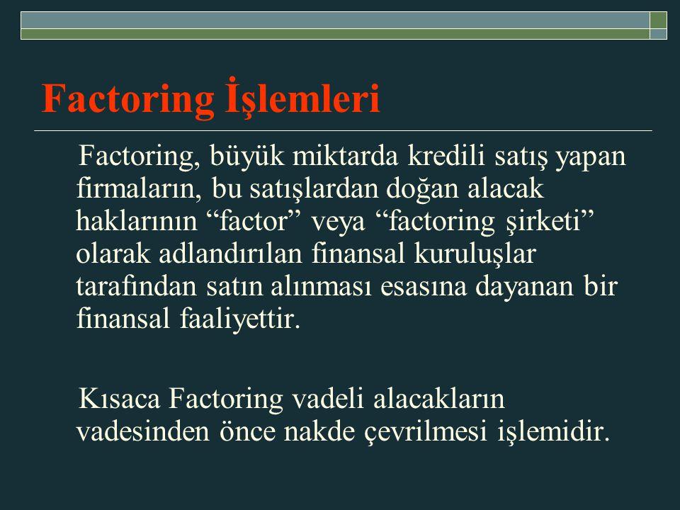 Factoring İşlemleri