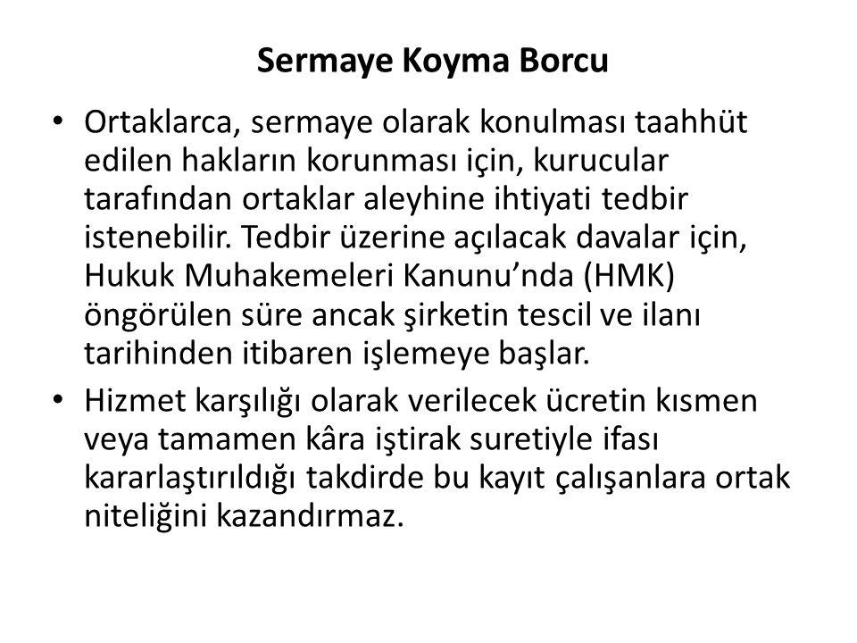Sermaye Koyma Borcu
