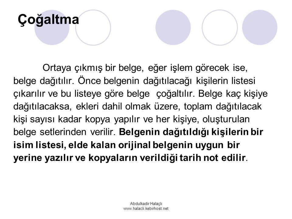 Abdulkadir Halaçlı www.halacli.kebirhost.net