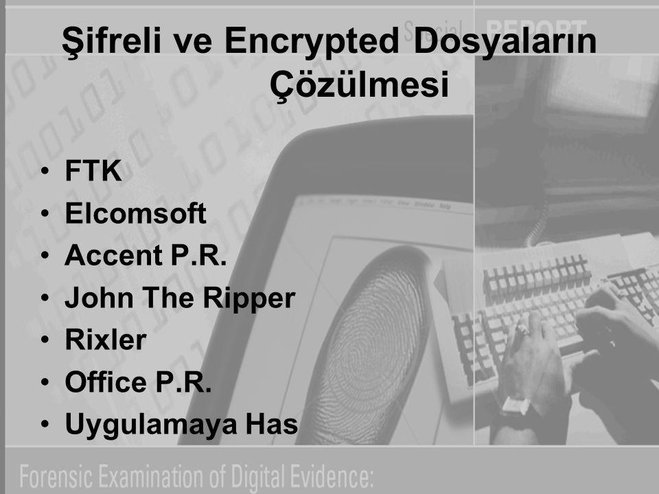 Şifreli ve Encrypted Dosyaların Çözülmesi