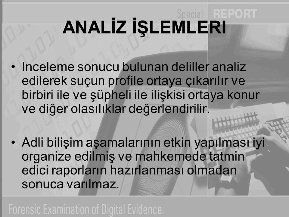 ANALİZ İŞLEMLERI