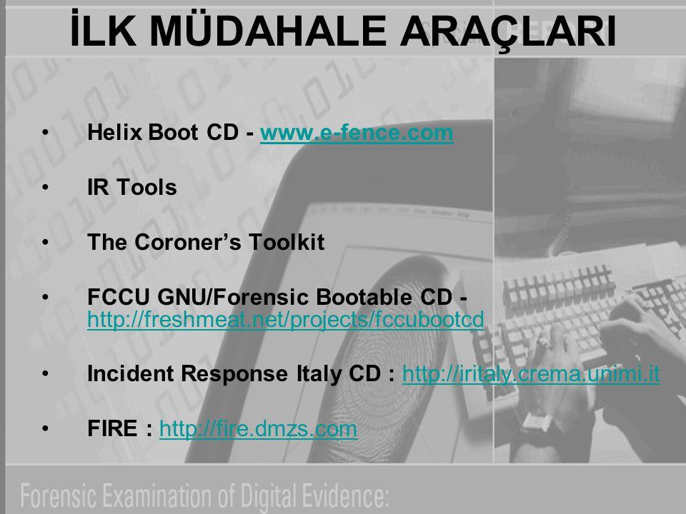 İLK MÜDAHALE ARAÇLARI Helix Boot CD - www.e-fence.com IR Tools