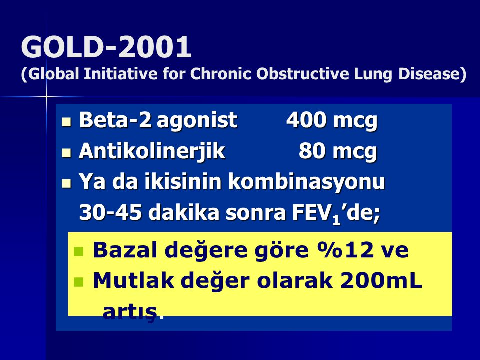 GOLD-2001 (Global Initiative for Chronic Obstructive Lung Disease)