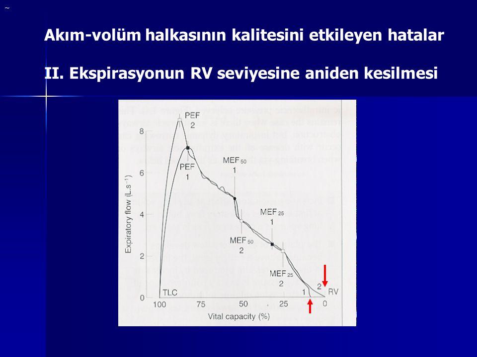 ~ Akım-volüm halkasının kalitesini etkileyen hatalar II.