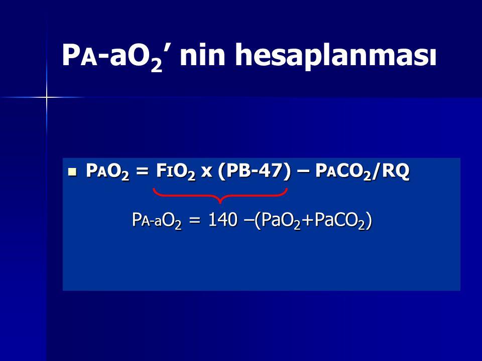 PA-aO2' nin hesaplanması