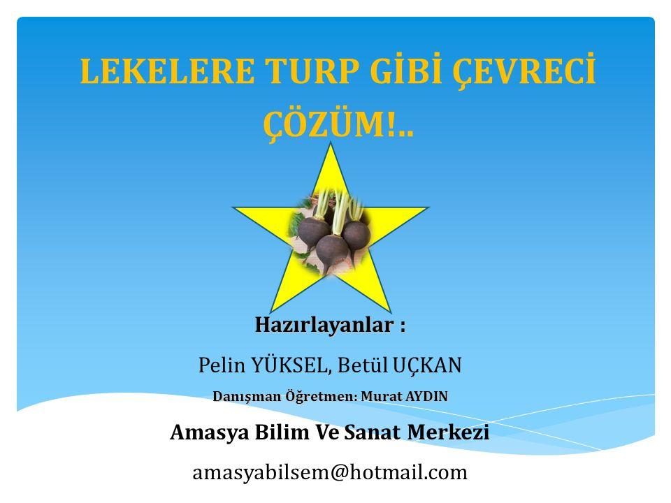 LEKELERE TURP GİBİ ÇEVRECİ ÇÖZÜM!..