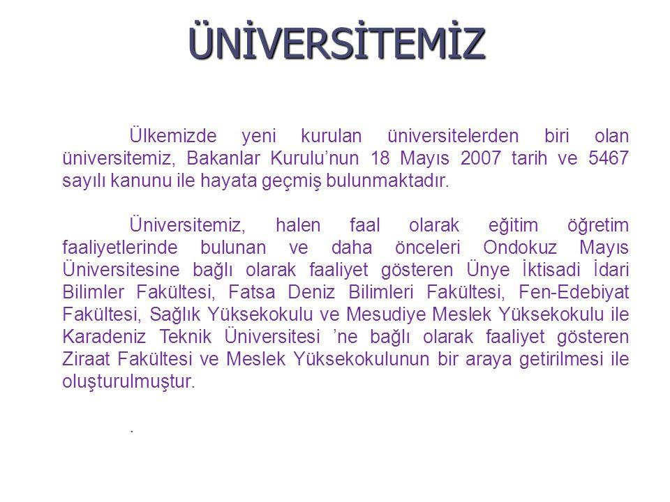 ÜNİVERSİTEMİZ
