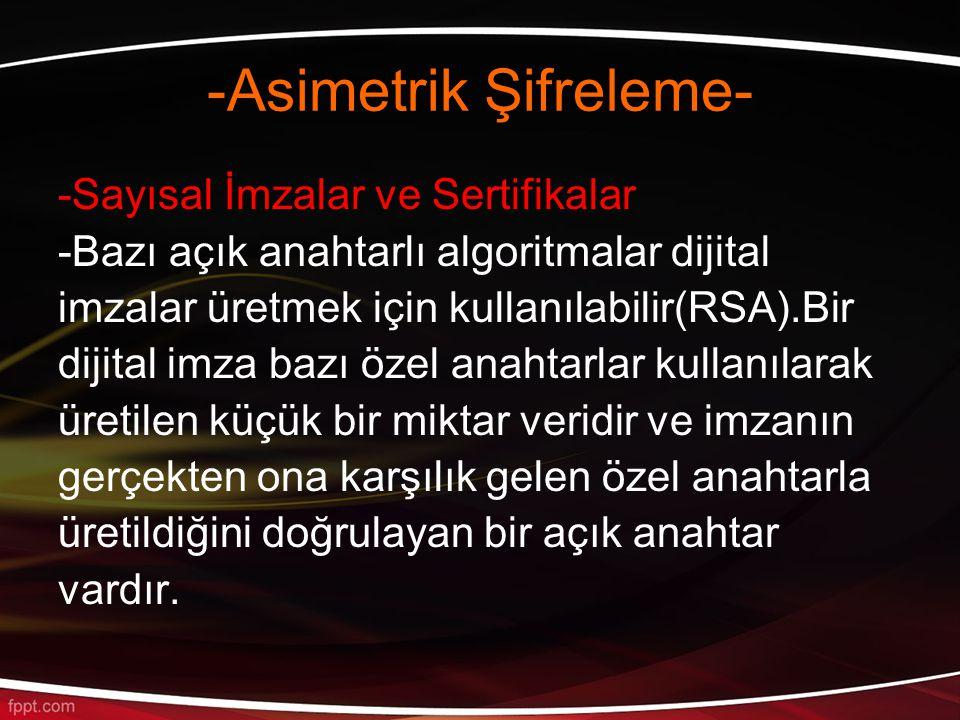 -Asimetrik Şifreleme-
