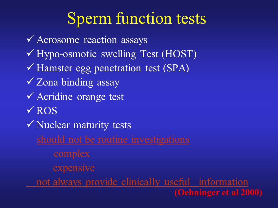 Sperm function tests Acrosome reaction assays