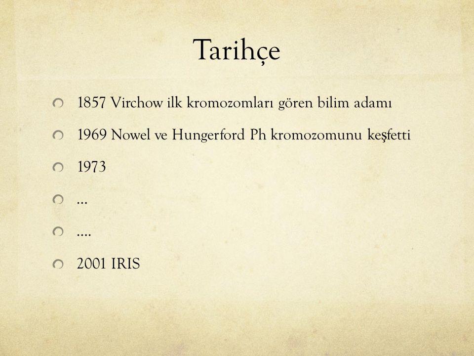 Tarihçe 1857 Virchow ilk kromozomları gören bilim adamı