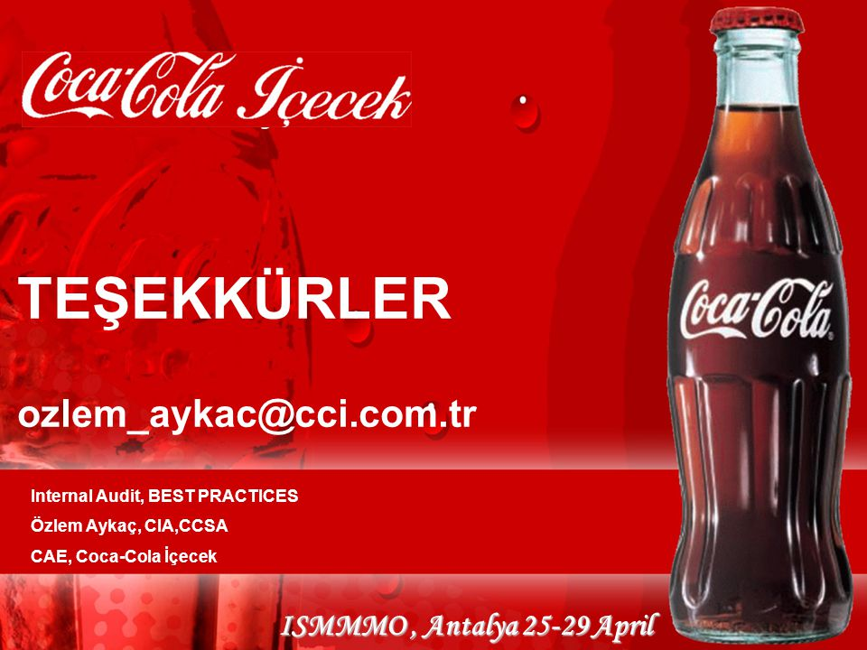 TEŞEKKÜRLER ozlem_aykac@cci.com.tr
