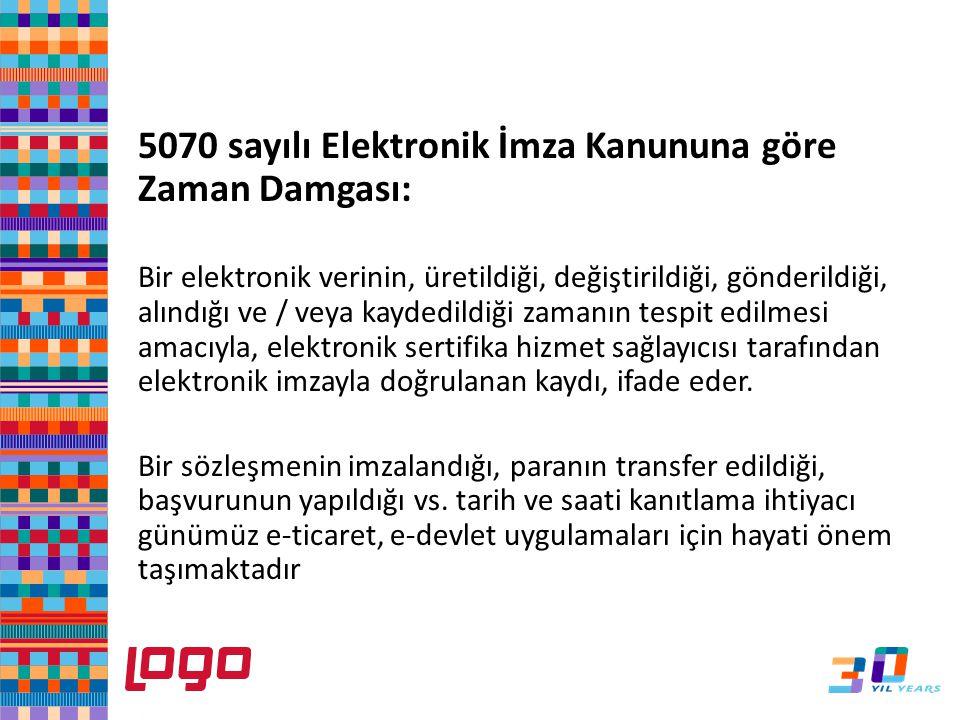 5070 sayılı Elektronik İmza Kanununa göre Zaman Damgası: