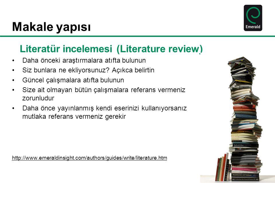 Literatür incelemesi (Literature review)