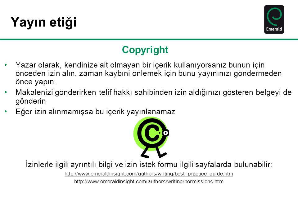 Yayın etiği Copyright.
