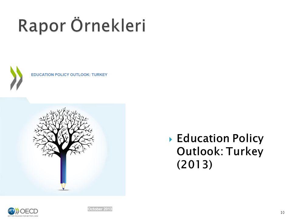 Rapor Örnekleri Education Policy Outlook: Turkey (2013)