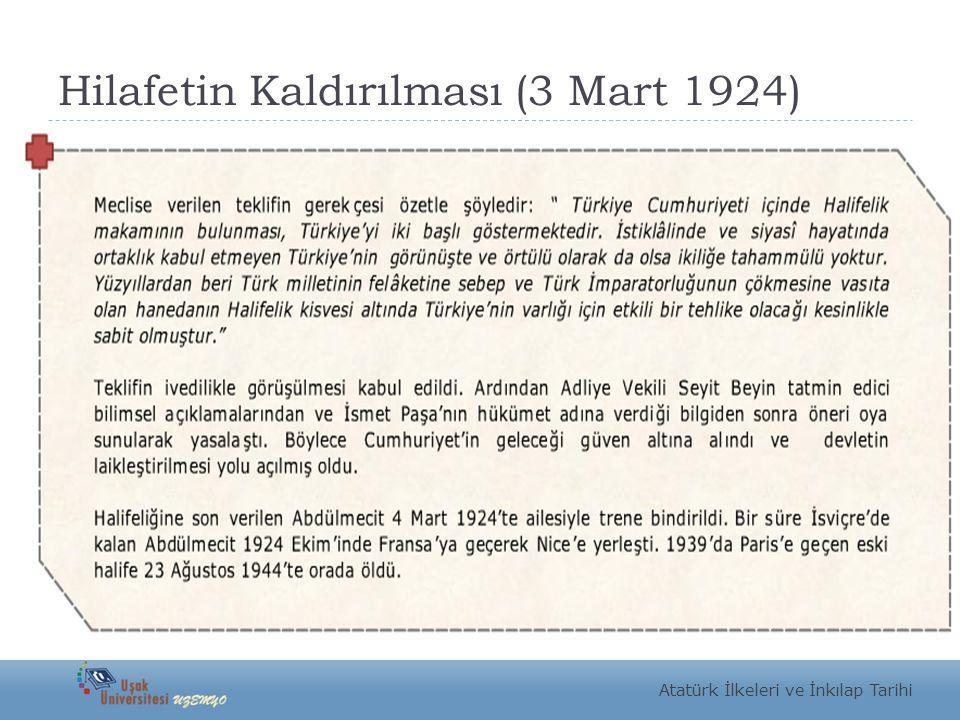 Hilafetin Kaldırılması (3 Mart 1924)