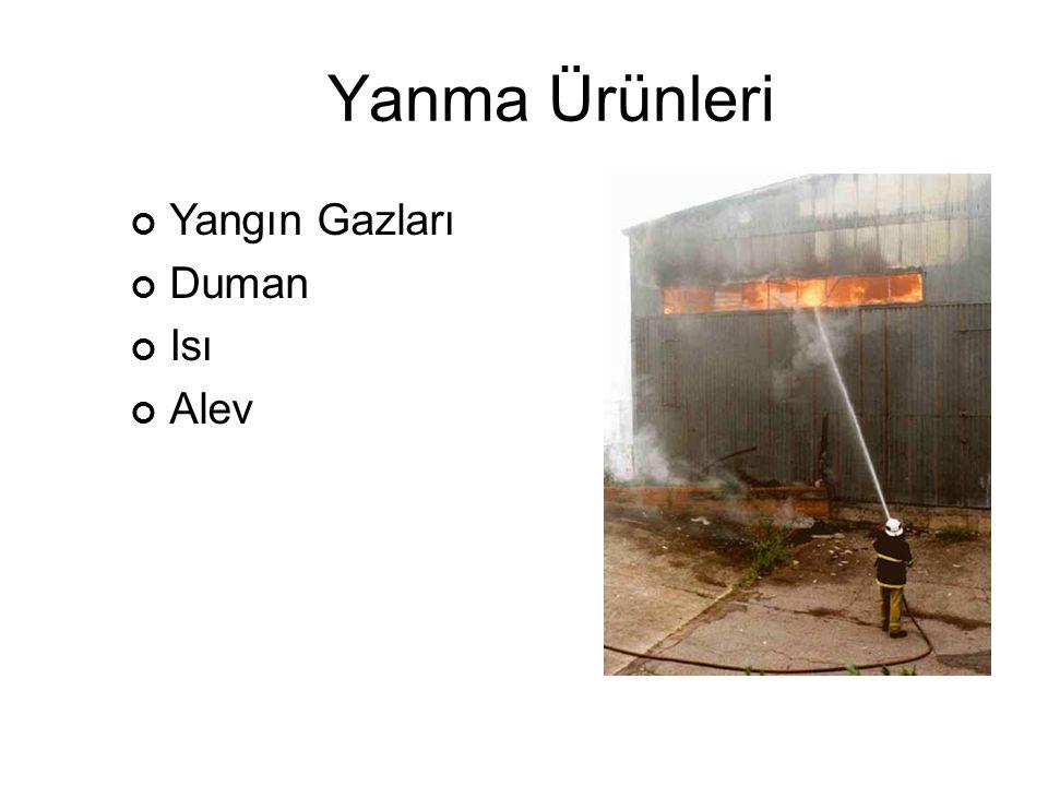 Yanma Ürünleri Yangın Gazları Duman Isı Alev
