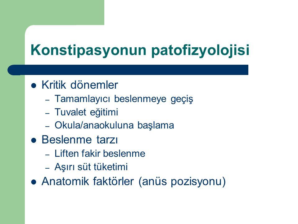 Konstipasyonun patofizyolojisi
