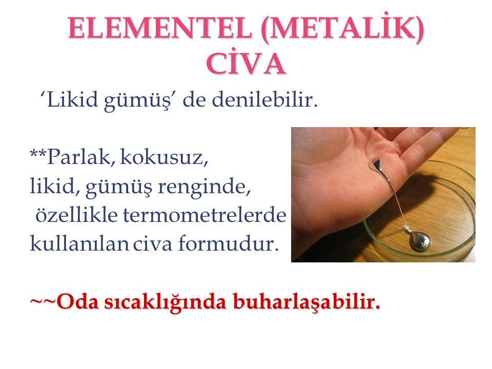ELEMENTEL (METALİK) CİVA
