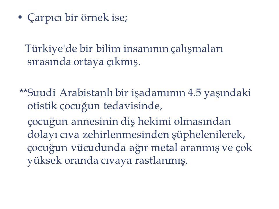 Çarpıcı bir örnek ise; Türkiye de bir bilim insanının çalışmaları sırasında ortaya çıkmış.