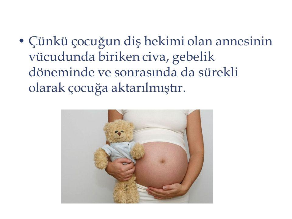 Çünkü çocuğun diş hekimi olan annesinin vücudunda biriken civa, gebelik döneminde ve sonrasında da sürekli olarak çocuğa aktarılmıştır.