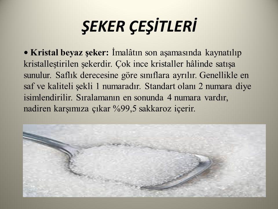 ŞEKER ÇEŞİTLERİ