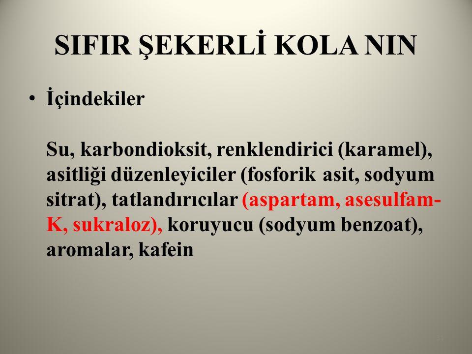 SIFIR ŞEKERLİ KOLA NIN
