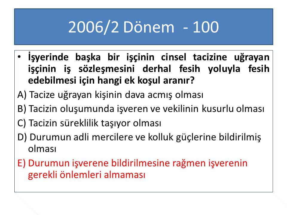 2006/2 Dönem - 100