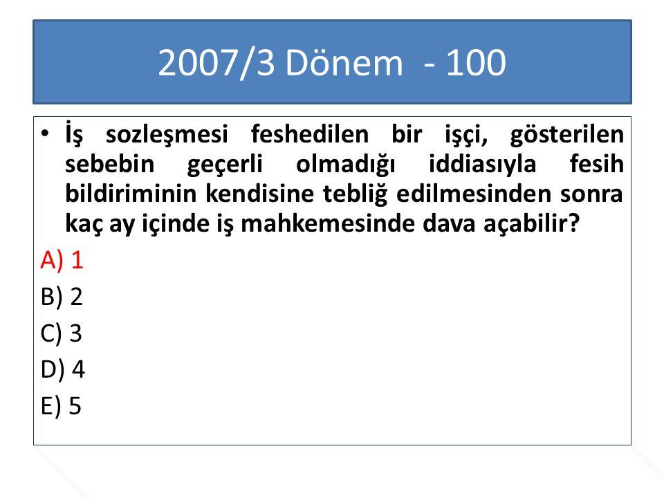 2007/3 Dönem - 100