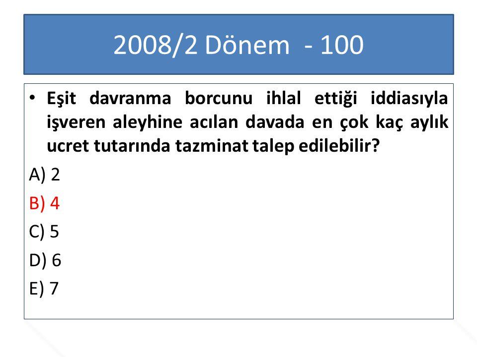 2008/2 Dönem - 100