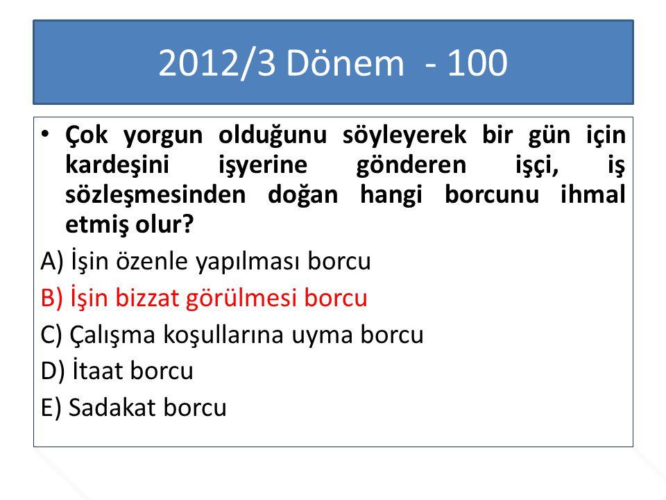 2012/3 Dönem - 100