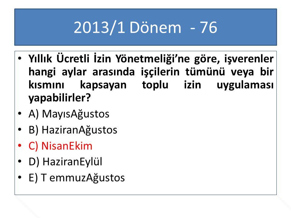 2013/1 Dönem - 76